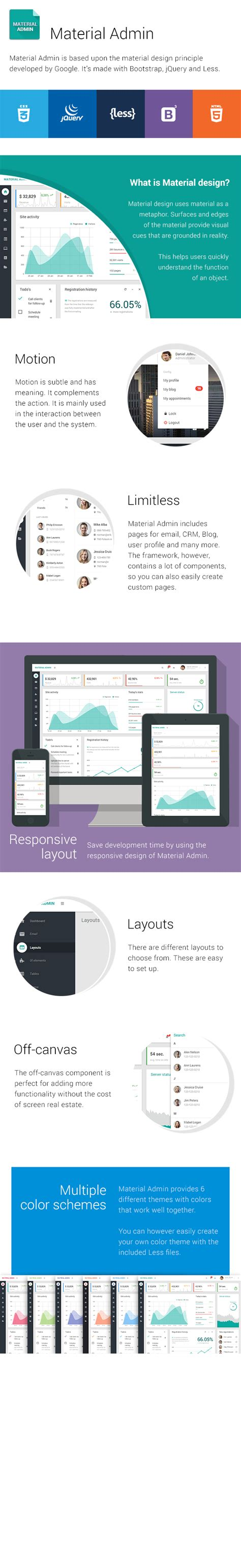 layout supported by bootstrap material admin material design bootstrap dashboard