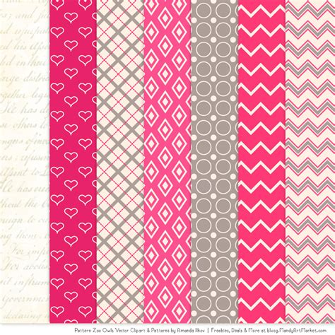 pink pattern clipart hot pink patterned owl clipart patterns