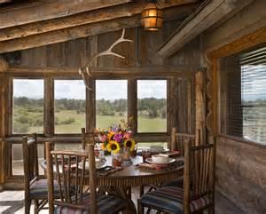 Log Cabin Sofas Beautiful Log Cabin Dining Rooms