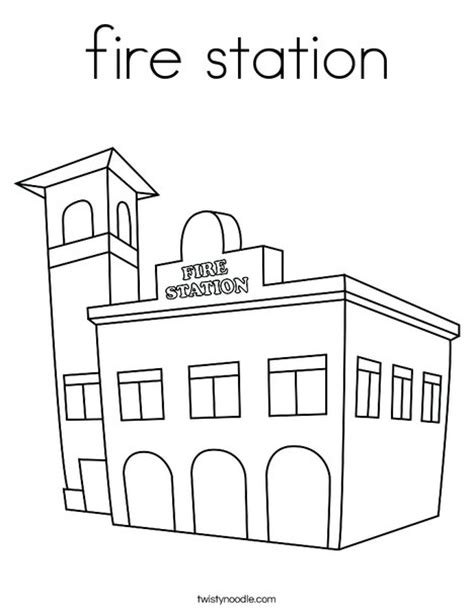 fire station coloring page twisty noodle