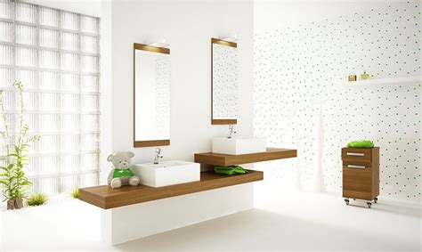 Fresh Bathroom Ideas by White Bathroom With Plants Interior Design Ideas