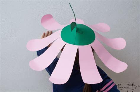 tutoriales un lugar para terapiarte papel mach 233 2 sombreros de papel molde sombrero de flor gigante