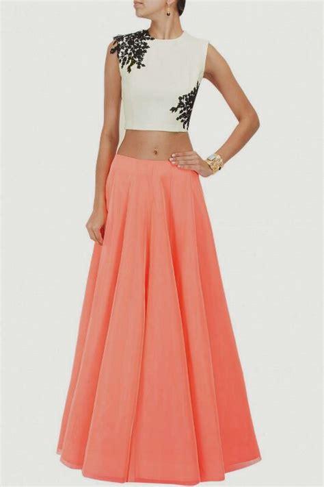 design dress tops designer dress flairy long skirt crop top stylish stunning