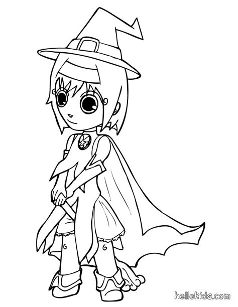 Kids Costumes Coloring Pages Witch Fancy Dress Costumes Coloring Pages