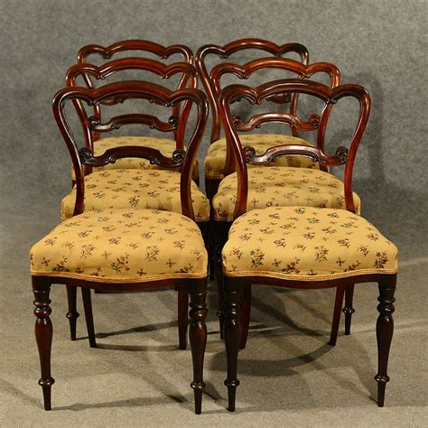 Antique Walnut Dining Chairs Antique Dining Chairs Walnut Set Of 6 Quality Antiques Atlas