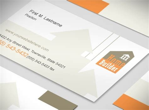 construction business card templates home building new home construction services business