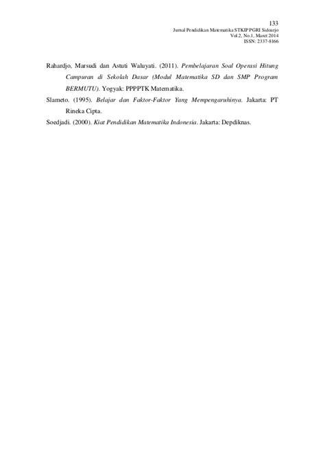 Evaluasi Hasil Belajar Drs Wayan Nurkancana Hasil Analisis Kesalahan Siswa Dalam Menyelesaikan Soal