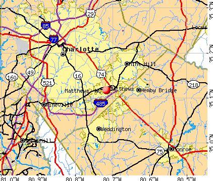 matthews carolina map matthews carolina nc 28105 profile population