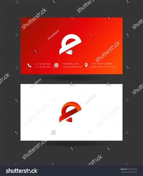 Memo Template Vector e letter logo business card template stock vector