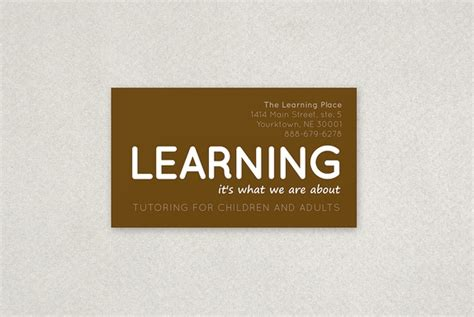 Tutoring Business Cards Template by Tutoring Business Card Sle Products I