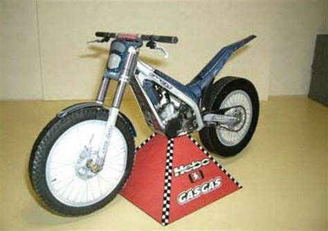 Motorcycle Papercraft - gas gas txt 280 motorcycle free vehicle paper model