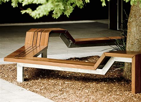 Wooden Outdoor Benches by Seating Solution For Students And Trees Architecture