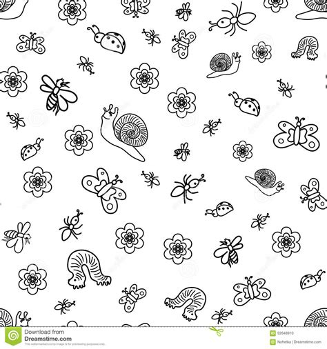 doodle bugs insects insects vector illustration cartoondealer 6558630