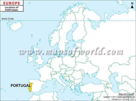 where is portugal located on the world map where is portugal location of portugal