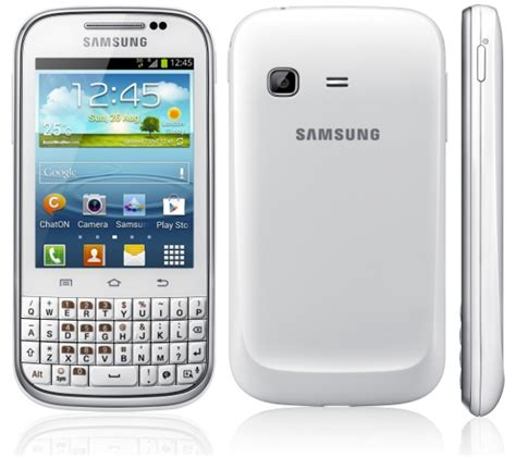 Samsung Qwerty Samsung Galaxy Chat With 3 Inch Display Qwerty Keyboard And Android 4 0 Announced
