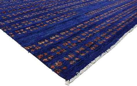 Blue Contemporary Area Rug Contemporary Moroccan Style Area Rug In Cobalt Blue At 1stdibs
