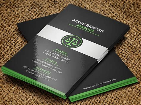 attorney business card template free lawyer business card template free