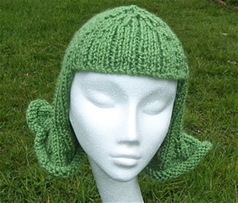 knitting flicking ravelry knitted hat wig chemo cap pattern by
