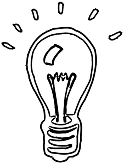 Light Bulb Coloring Pages Clipart Best Tree Light Bulb Coloring Pages
