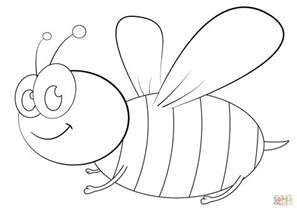 cartoon bee coloring free printable coloring pages