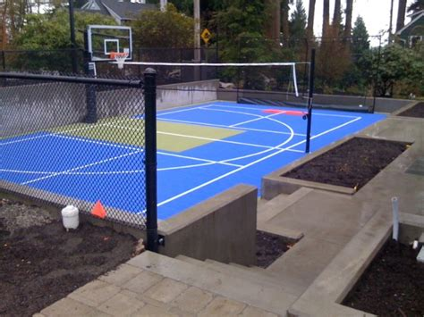Backyard Ideas Sports Allweather Surface Sport Court Contemporary Home