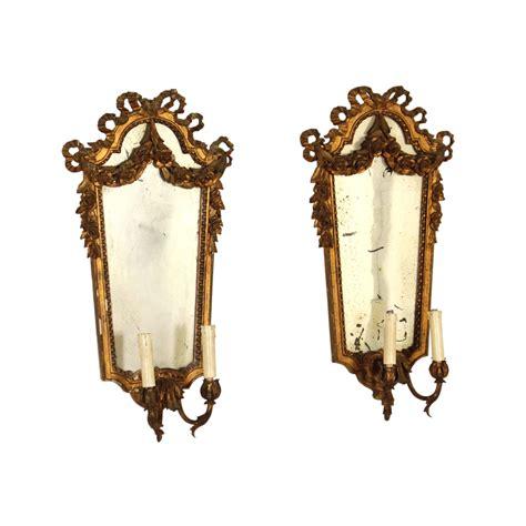applique specchio coppia di applique con specchio illuminazione bottega