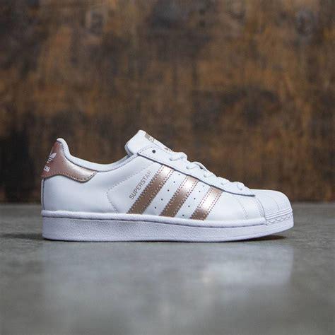 adidas rose gold adidas women superstar rose gold footwear white