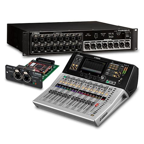 Mixer Yamaha Tf1 yamaha tf1 16 ch digital mixer with tio1608 d dante stage box and expansion card musician s friend