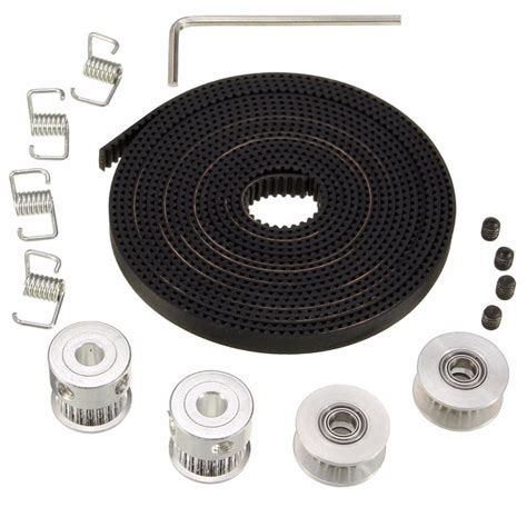 Timing Pulley 2gt Belt 10mm Bore 5mm 20 Teeth new 2x gt2 pulley 20 teeth bore 5mm 8ft 2 5m 2gt gt2 timing belt 2x idler 4x tensioner for
