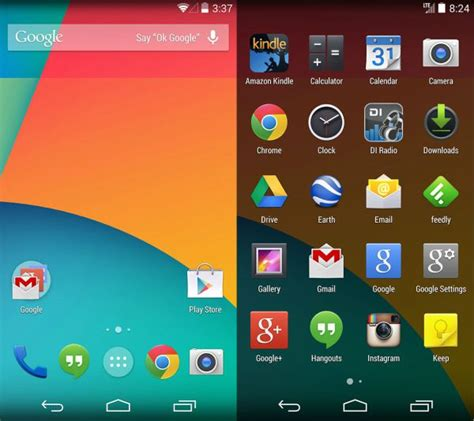 android us android 4 4 kitkat stock apps for your android
