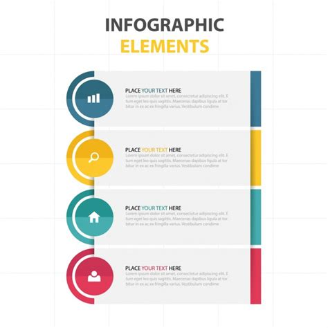 design criteria des modern infographics with four colors vector free download