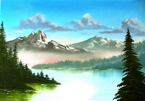 mountain landscape paintings painting mountain landscape flickr photo