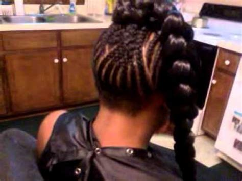 sew in with thin edges beyonce jumbo braid with sew in bang natural hair with