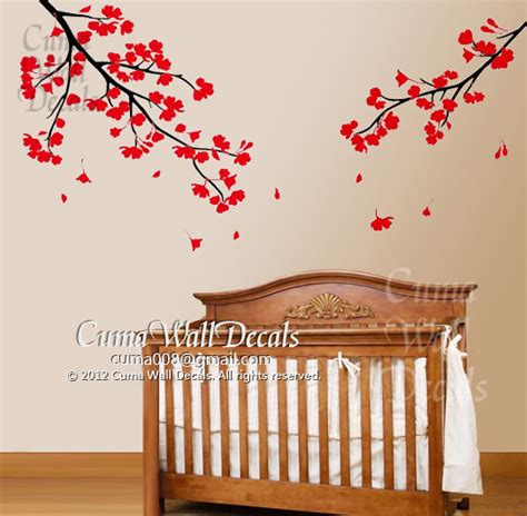 Flower Wall Decals For Nursery Nursery Wall Decals Flower Blossom Vinyl Wall Decal By Cuma