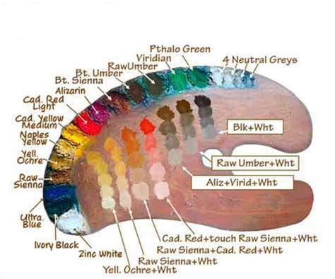 paint mixing colors how to make skin color in oil painting fine art blogger