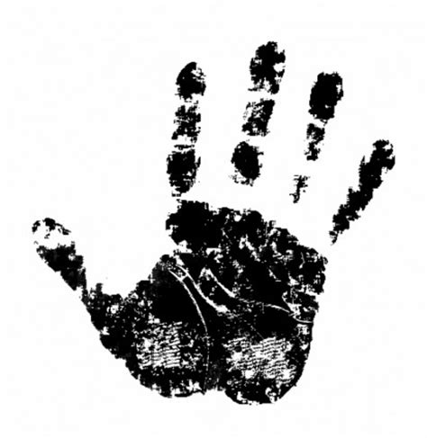 vector baby handprint   clip art