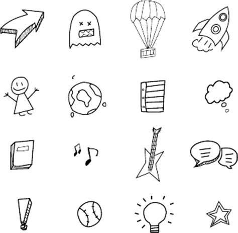 doodle draw icon pack vector files endless icons