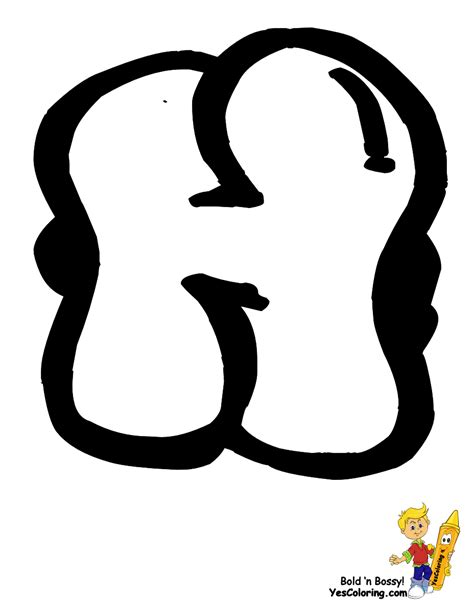 black eye alphabet coloring graffiti alphabet
