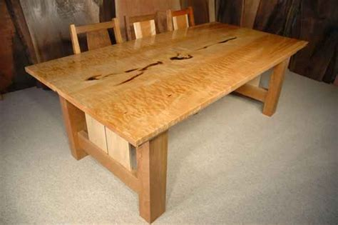 Handmade Wooden Dining Tables - maple dining tables handmade by dumond s custom wood