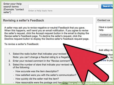 ebay feedback revision 3 ways to dispute negative feedback on ebay wikihow
