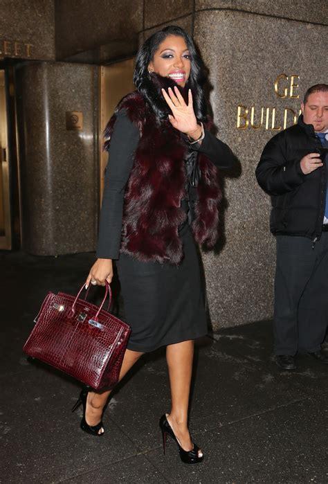 porsha williams porsha williams style leaving the nbc studios in new