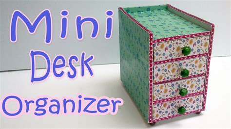 mini craft projects how to make a mini desk organizer diy crafts