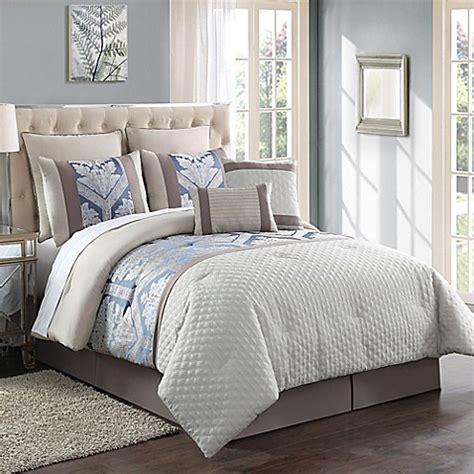 maribelle 8 piece jacquard comforter set in ivory khaki