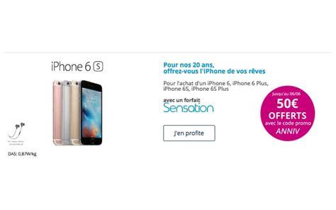 code promo bouygues telecom 50 offerts sur les iphone 6 et 6s