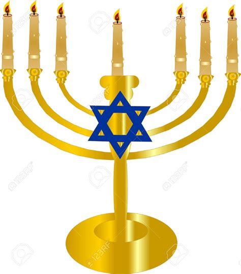 candelabro ebraico 7 branch menorah clipart