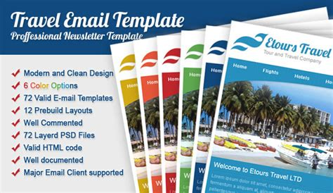 travel email templates etours travel email template by spidebinc themeforest