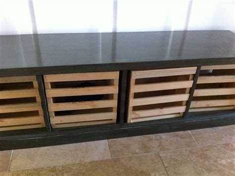 ana white storage bench  crates diy projects