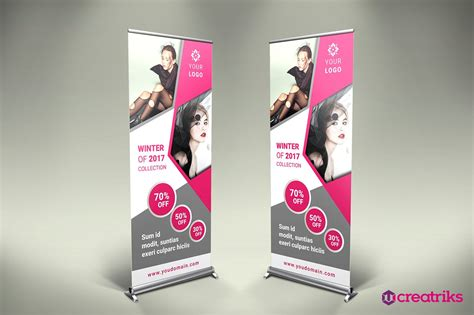 Wedding Roll Up Banner by Fashion Roll Up Banner Flyer Templates Creative Market