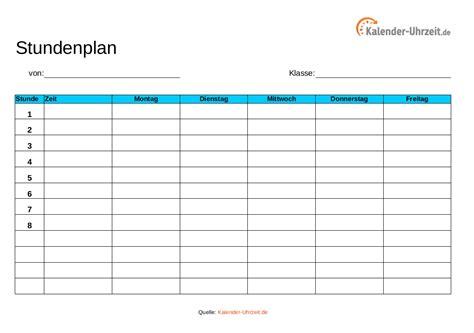Blau De Kündigung Vorlage Pdf Stundenplan Vorlagen