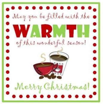 coffee gift tags christmas  farming  knowledge tpt